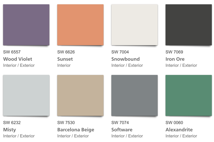 SW Easy Eclectic Color Palette