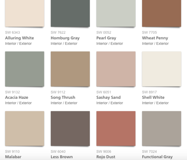sherwin-williams sincerity color pallet