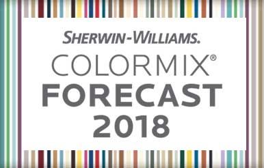 The Sherwin-Williams Colormix Forecast 2018 is a top residential painting source