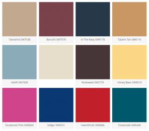 Sherwin-Williams Unity Color Pallet