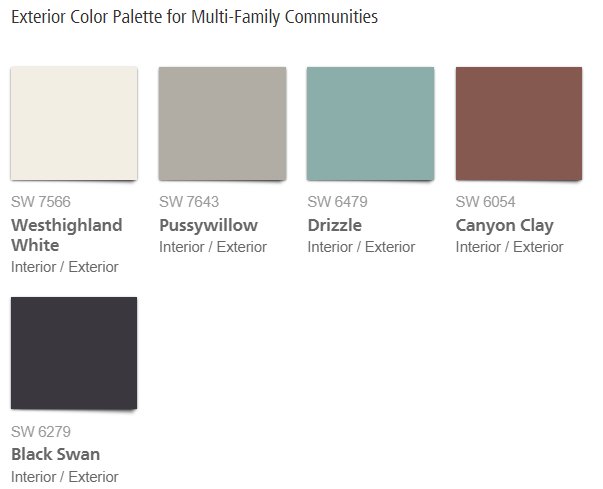 sherwin williams virtual pop exterior pallet