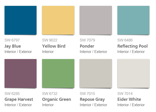 sherwin williams virtual pop interior pallet