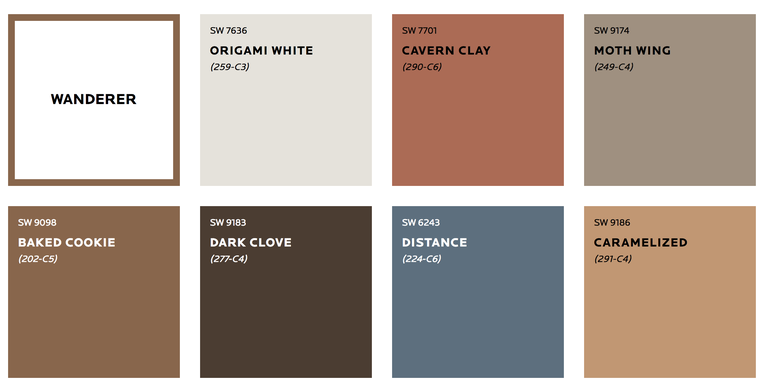 Sherwin Williams Wanderer Palette