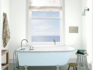Bathroom WALL Chantilly Lace OC-65 TRIM Distant Gray 2124-70 TUB Breath of Fresh Air 806