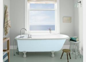 Bathroom WALL Coventry Gray HC-169 TRIM Distant Gray 2124-70 TUB Breath of Fresh Air 806