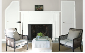 Living Room WALL Abalone 2108-60 DOORS Chantilly Lace OC-65 MANTEL Chantilly Lace OC-65 TRIM Chantilly Lace OC-65