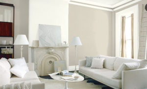 Living Room WALL Edgecomb Gray HC-173 ACCENT WALL Simply White OC-117 TRIM Simply White OC-117